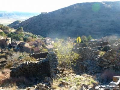 Cancho de la Cabeza-Patones; los galayos hoces del rio duraton ruta transpirenaica agosto vacaciones